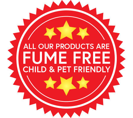 Fume free oven cleaning products
